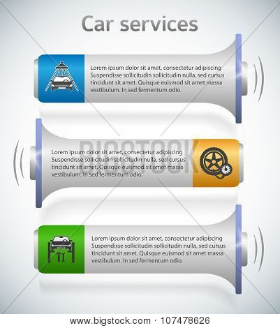 Horn-horizontal-banner-auto-service-leaflet