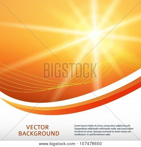 Hot-summer-sun-rays-background-label-products