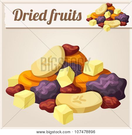 Detailed Icon. Dried fruits