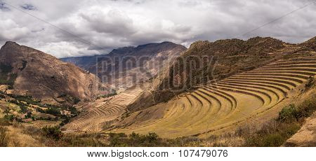 Terraces in a mountain landscape