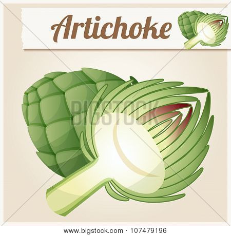 Artichoke. Detailed Vector Icon