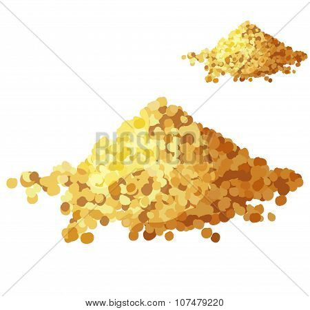 Bread crumbs isolated on white background. Detailed Vector Icon