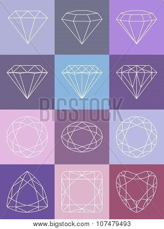 Set Of Isolated Diamonds