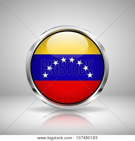 Flag Of Venezuela In Chrome