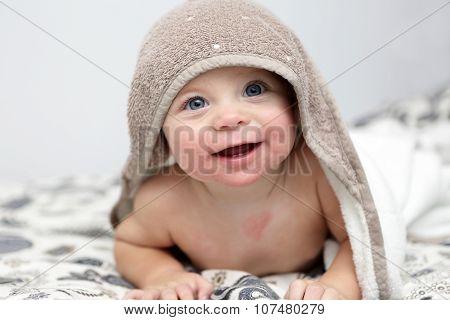 Baby Under Bath Towel