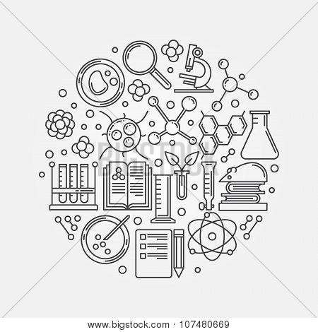 Biotechnology linear illustration