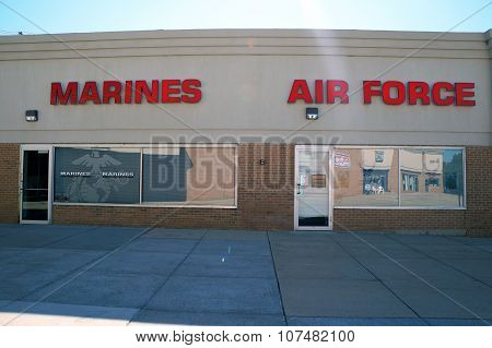 Marines and Air Force Recruitment Offices