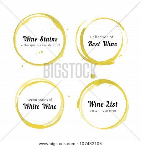 White Wine stain circles
