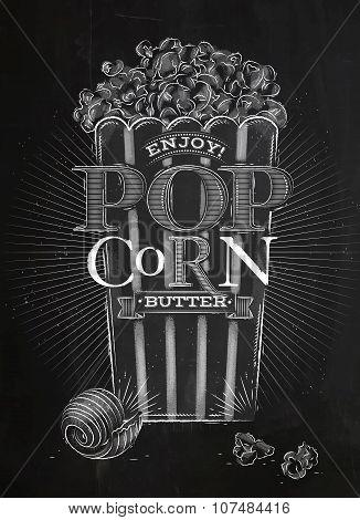 Poster Popcorn Butter Chalk