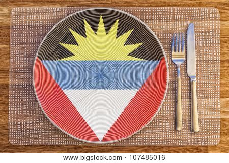 Dinner Plate For Antigua And Barbuda