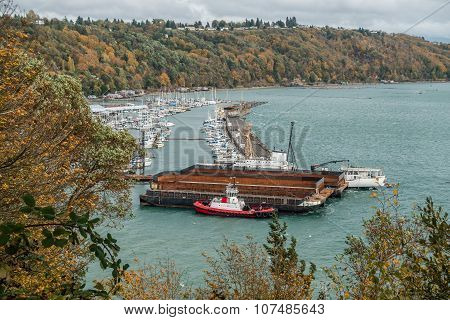 Tacoma Marina And Barges