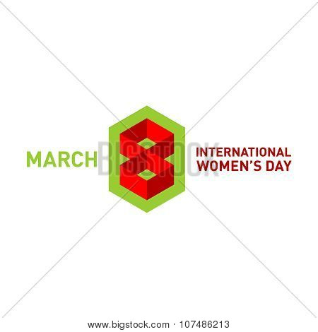March 8 Day Card Title Logo