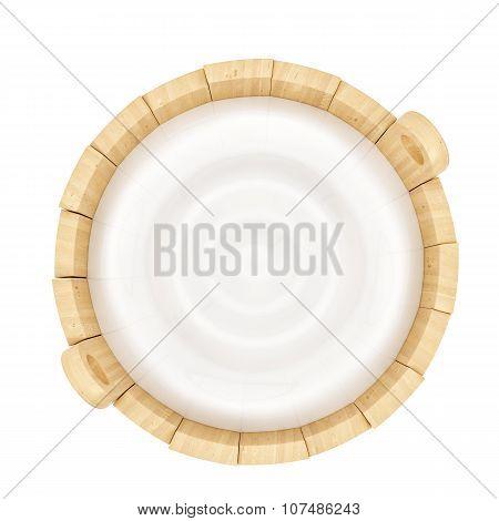 wooden milk bucket