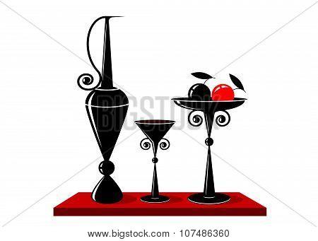 logo wine and fruit.