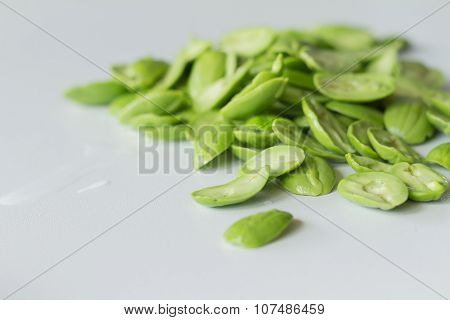 Parkia Speciosa Bean On White Background