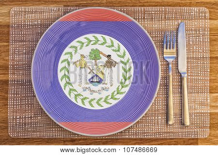 Dinner Plate For Belize
