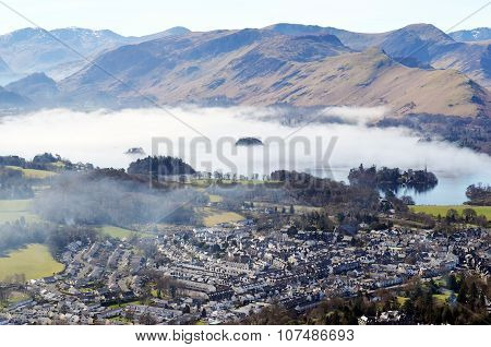 Keswick town in the Lake District