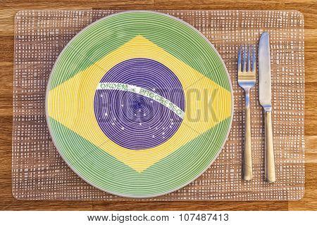 Dinner Plate For Brazil