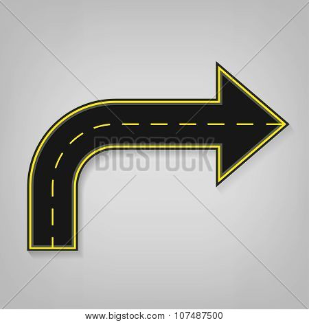 Road arrow icon