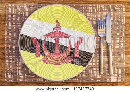 Dinner Plate For Brunei