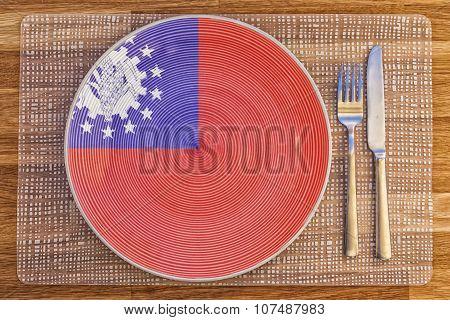 Dinner Plate For Burma