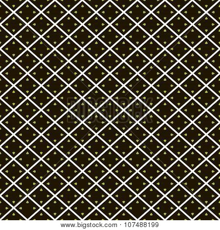 Abstract Seamless Pattern Of Diagonal Cells With Droplets In Corners