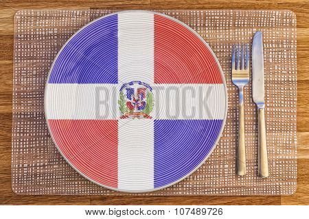 Dinner Plate For Dominican Republic