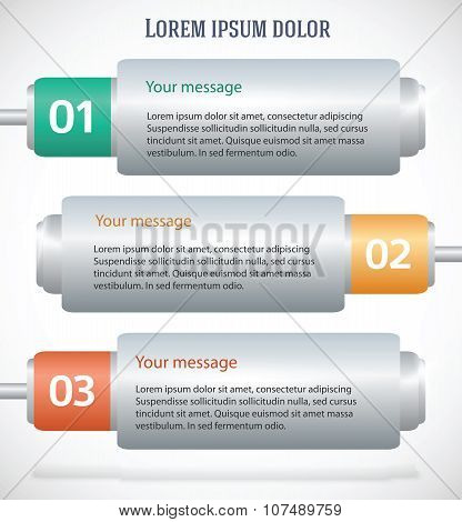 Battery template orizontal banner background