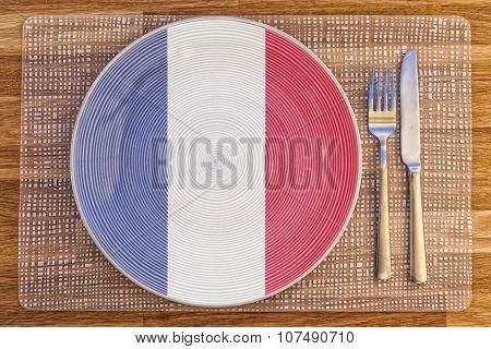 Dinner Plate For France