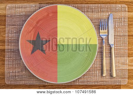 Dinner Plate For Guinea Bissau
