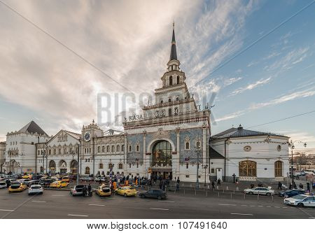 Kazan Railway Station In Moscow.