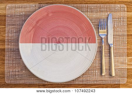 Dinner Plate For Indonesia