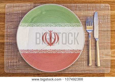 Dinner Plate For Iran