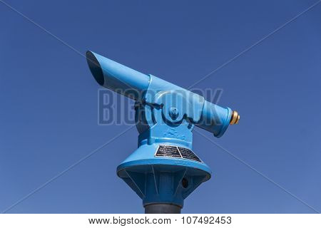 Blue Telescope At The Kehlstein, Germany, 2015