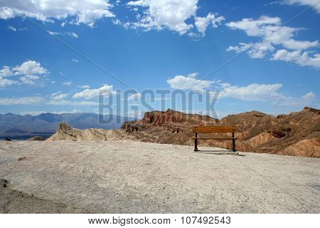 Bench in Death valley