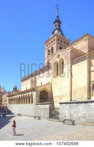 Segovia. Spain. Urban Landscape. Catholic Medieval Catholic Church