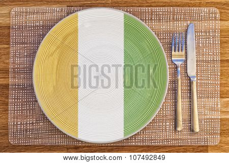 Dinner Plate For Ivory Coast