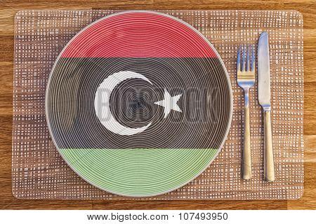 Dinner Plate For Libya