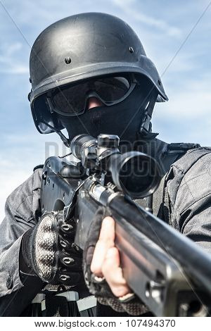 SWAT police sniper