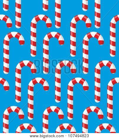 Red Striped Candy Holiday. Christmas And New Years Mint Candy. Sweets Candy Reed.