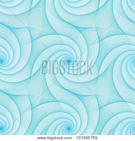 Cyan repeating fractal line pattern design