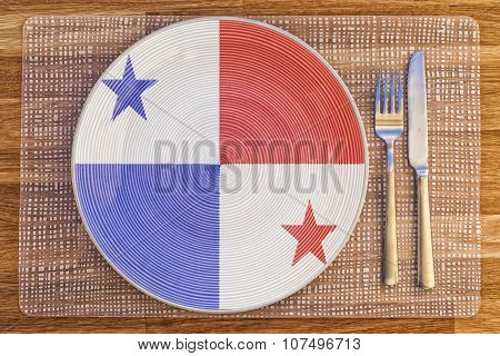 Dinner Plate For Panama