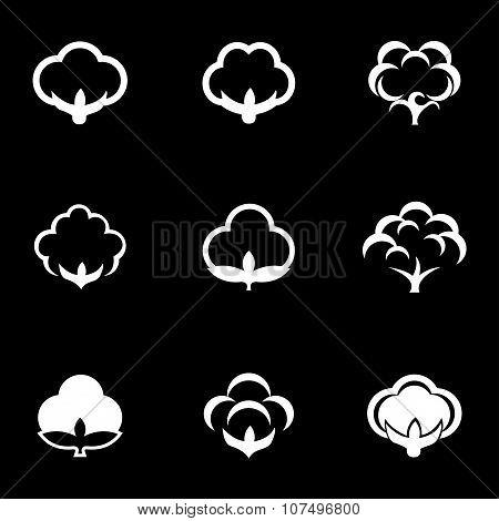 Vector White Cotton Icon Set