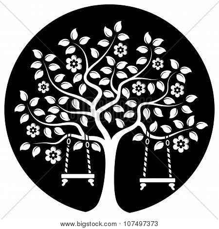 Flowering Tree With Swings