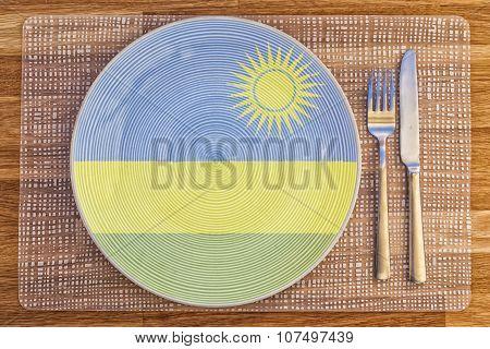 Dinner Plate For Rwanda
