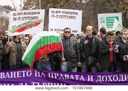 Protest,Bulgaria Security Sector