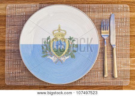 Dinner Plate For San Marino