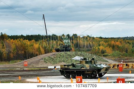 Infantry Fighting Vehicle Bmp-3 And Buk Missile System Buk-m23