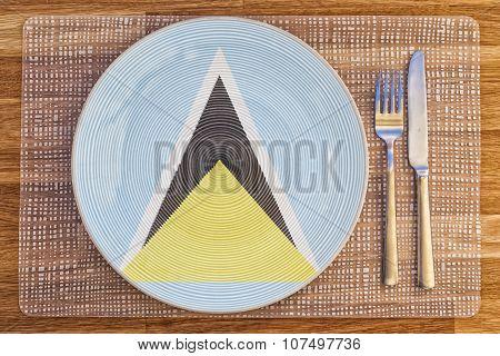 Dinner Plate For Saint Lucia