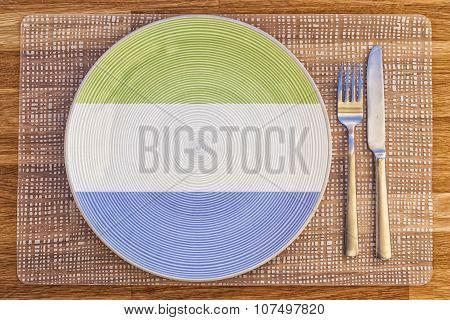 Dinner Plate For Sierra Leone